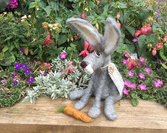 Haremione the bespoke needle felted Hare