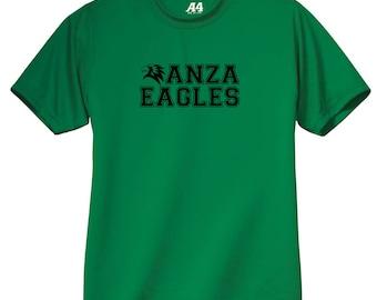 Anza Youth Performance T-Shirt, Dri-Fit T-Shirt, Anza Elementary, Spirit Wear, Youth Short Sleeve T-Shirt, Redondo Beach