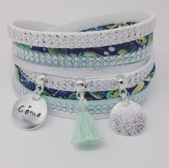 Liberty of London * Bracelet personalized multi strand Liberty with personalized engraving by Palilo jewelry