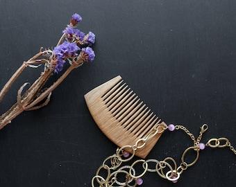 Wood comb wooden comb gift girl wood comb natural hair comb for her wooden comb wood hair care wooden accessories Natural Wooden Comb Hair