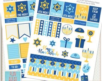 Hanukkah Erin Condren Life Planner Sticker Kit Printables Calendar