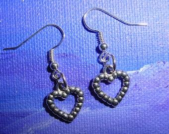 Silver metal hearts