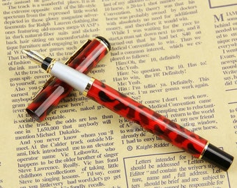 New Caligraphy Style Fountain Pen Fine Nib with Black Ink included and Refilable Bladder