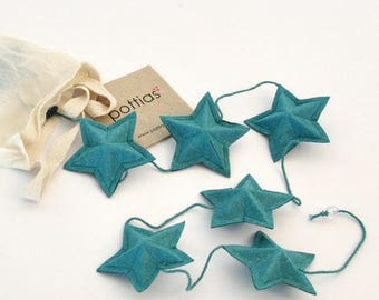 Recycled cotton, 1.5 m Garland with stars