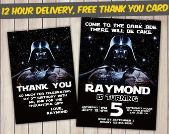 Star Wars Invitation, Star Wars Birthday, Star Wars Birthday Invitation, Star Wars Party, Star Wars Invite, Star Wars Printable