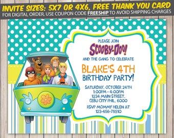 Scooby Doo Invitation, Scooby Doo Birthday, Scooby Doo Birthday Invitation, Scooby Doo Party, Scooby Doo Invite, Scooby Doo Printable
