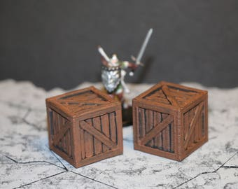 "Dungeon and Dragons Terrain ""Crates"""