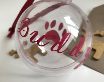 Christmas pet treat bauble