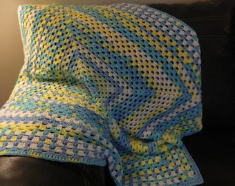 Crochet Granny Square Baby Afghan