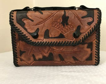 Tooled Leather Bible Case