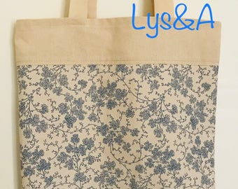 tote bag beige and blue