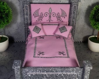 Furniture For Monster High Dolls. Bed For 12 Inch Dolls. 1:6 Scale