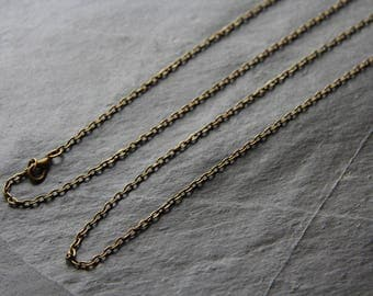 Chain necklace antique bronze necklace (Rosary)