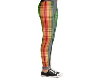 Yogi & Pie Scottish Quilt Pattern Yoga Leggings