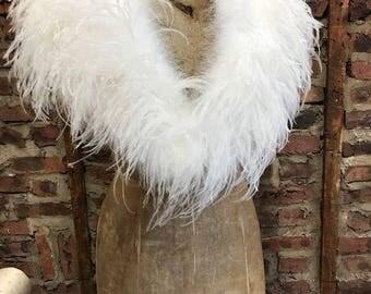 Wedding Ostrich Feather Shawl