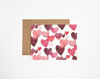 Valentines Multiple Hearts Card
