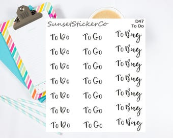 To Do Text Stickers (D47)