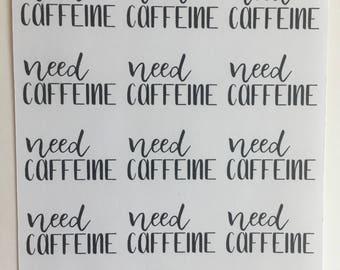 Caffeine Stickers D78
