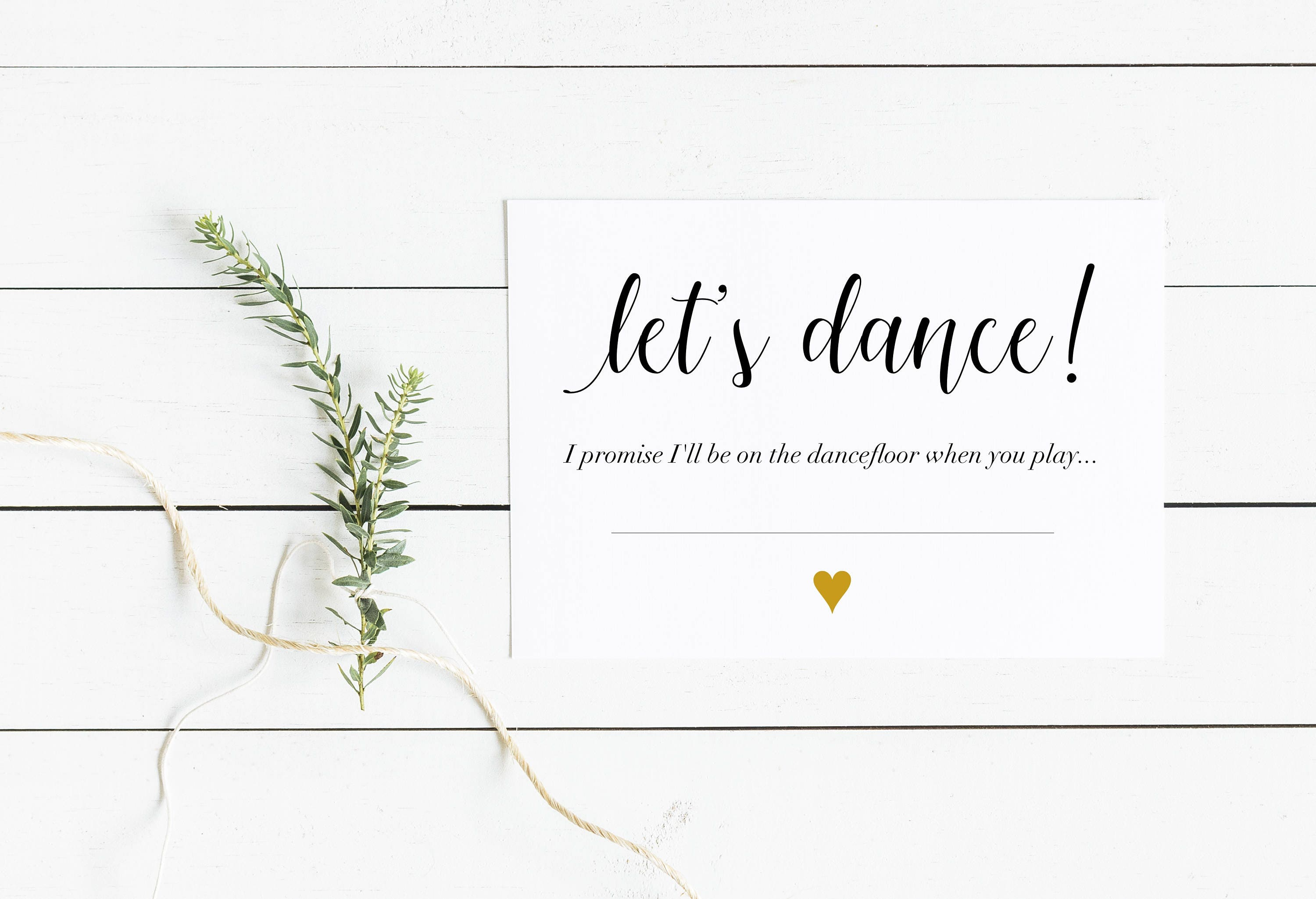 Wedding Lets Dance Request A Song Cards RSVP