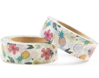 Pineapple washi tape with flowers