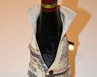 Vest bartender theme wine bottle case
