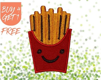Fun Patches Smiley Patches Iron On Patch Embroidered Patch Fast Food French Fries