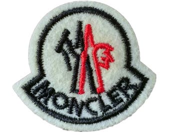 Moncler patch,iron on embroidery Patch,Embroidered Applique,t-shirts patch labels,patches for down jackets,Emblem Patch Badge