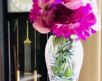 Crystal Vase by Bohemia Czechoslovakia