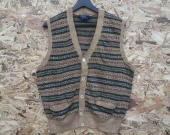 POLO RALPH LAUREN vintage 90s Polo Ralph Lauren knitwear cardigan vest top colourful nice design M