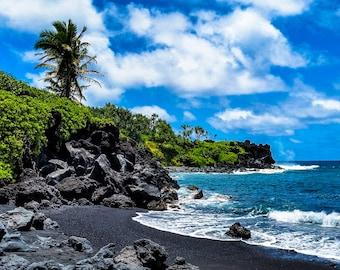 Maui Hawaii Black Sand Beach