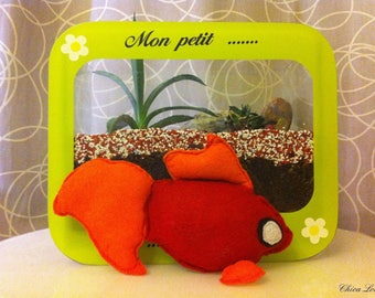2 - Blanket Buldo fish in red felt