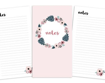 Personal Notes Pages Printable Insert - TN/Ring Planner - Spring Blooms