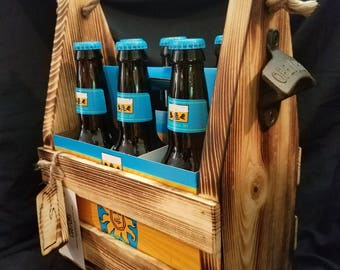 Beer crate/gift box with opener