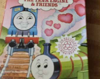 Vintage Greeting Card - 1993 Thomas The Tank Engine Classroom Valentine Cards, American Greetings Forget Me Not, NIP, Vintage Greeting Cards