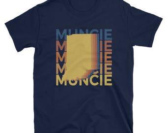 Muncie Indiana T Shirt IN Vintage Repeat