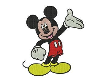 Mickey Embroidery Design #3 - 5 SIZES