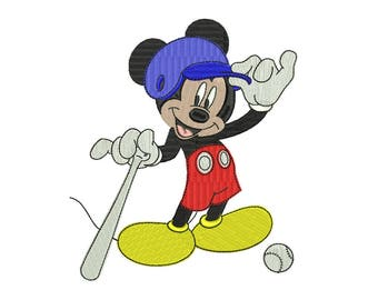 Mickey Embroidery Design #4 - 4 SIZES