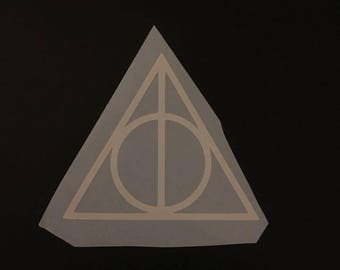 Deathly Hallows vinyl decal