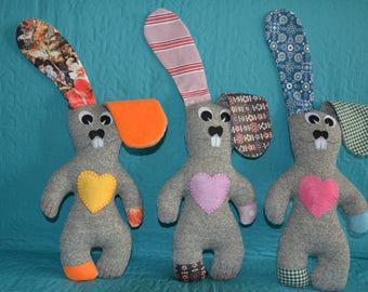 Easter Bunny, Stuffed Bunny doll, Funny Bunny, Soft toy Bunny, Handmade Bunny, Valentine's gift,  Stuffed animal Bunny