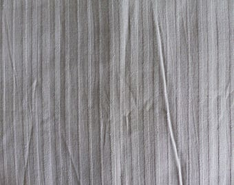 Light grey 100% cotton fabrics slightly flocke stripe