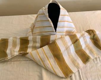 Golden stripe cotton Erhiopian Scarf
