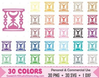 Hourglass Clipart, Hourglass planner SVG Silhouette Cricut Cut File Commercial Use (Png Svg Dxf)