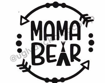 Mama Bear Vinyl Decal