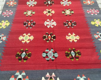 Old vintage antique Turkish Rug 1970's
