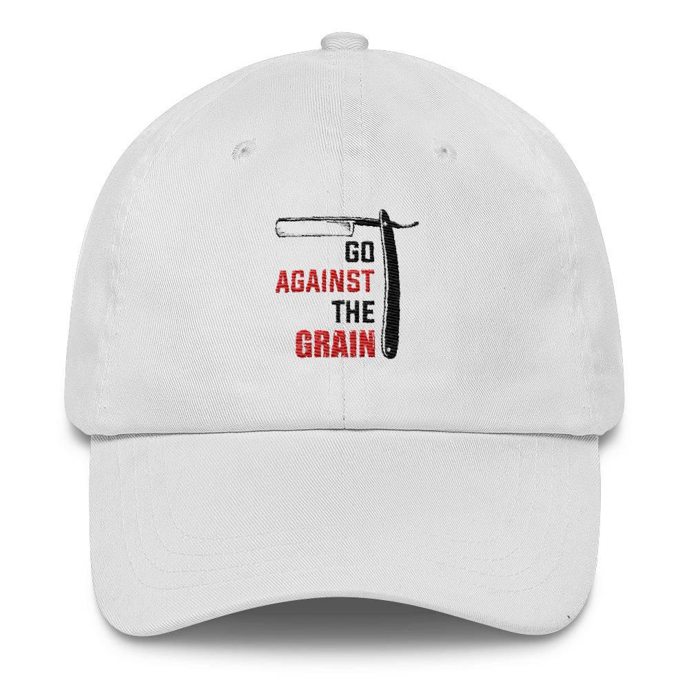 Go Against the Grain - Straight Razor wet shaving design Classic Dad Cap a680137b11c6