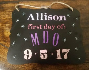 First Day of... reusable chalkboard sign