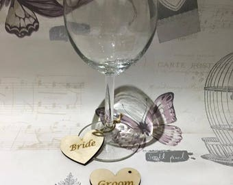 Wooden Personalised Wedding place settings, name place settings, Wedding Favours