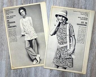 Set of 2 patterns Modes de Paris (Vintage)