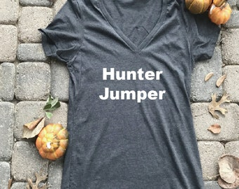 Hunter Jumper shirt, Horse shirts for her, gifts for her, horse gift for girls, equestrian shirt, barn tshirts, horse jumping shirt