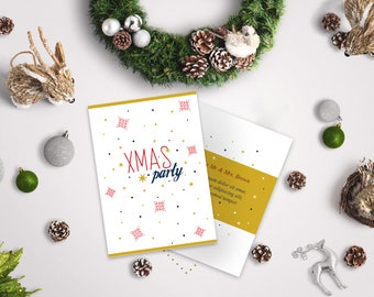 Christmas Party Invitation Printable,Instant download,Printable invitation,Christmas Holiday Paty,Invitation template,Digital Download.
